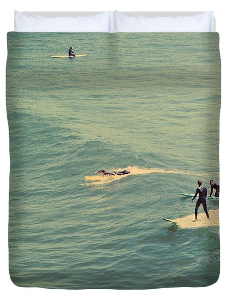 It's The Ride Duvet Cover by Laurie Search