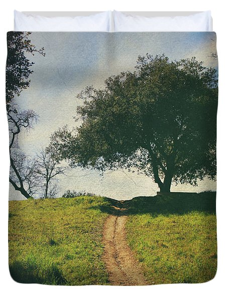 It's Time to Get Up That Hill Duvet Cover by Laurie Search
