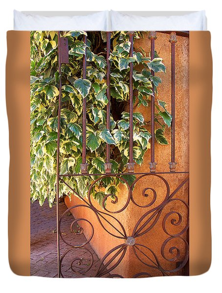 Ivy And Old Iron Gate Duvet Cover by Ben and Raisa Gertsberg