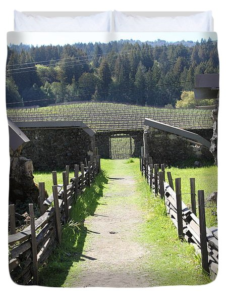 Jack London Ranch Winery Ruins 5d22180 Duvet Cover by Wingsdomain Art and Photography