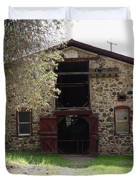 Jack London Sherry Barn 5D22070 Duvet Cover by Wingsdomain Art and Photography