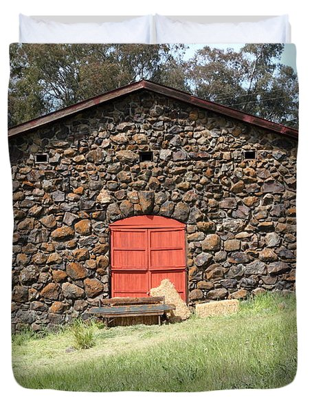 Jack London Stallion Barn 5D22101 Duvet Cover by Wingsdomain Art and Photography