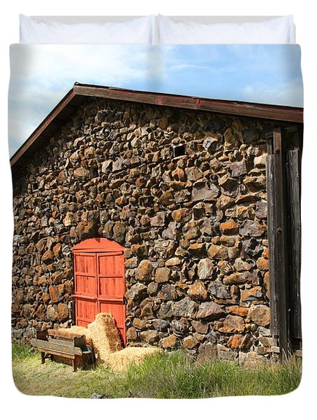Jack London Stallion Barn 5D22104 Duvet Cover by Wingsdomain Art and Photography