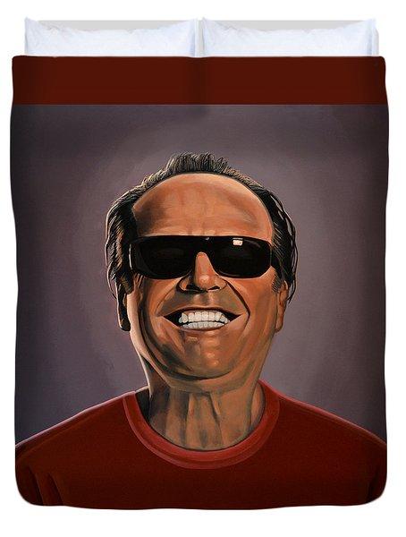 Jack Nicholson 2 Duvet Cover by Paul Meijering