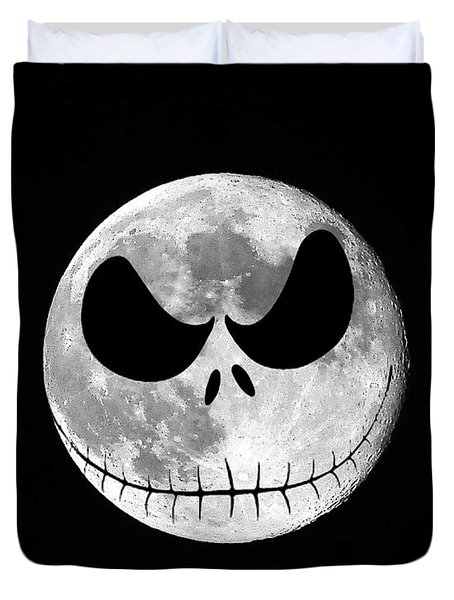 Jack Skellington Moon Duvet Cover by Al Powell Photography USA