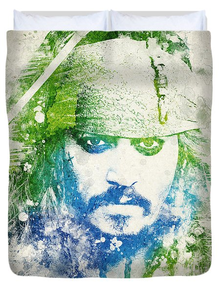 Jack Sparrow Duvet Cover by Aged Pixel