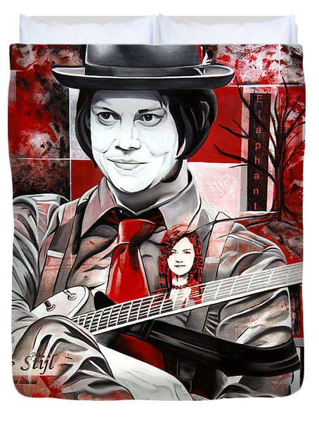 Jack White Duvet Cover by Joshua Morton