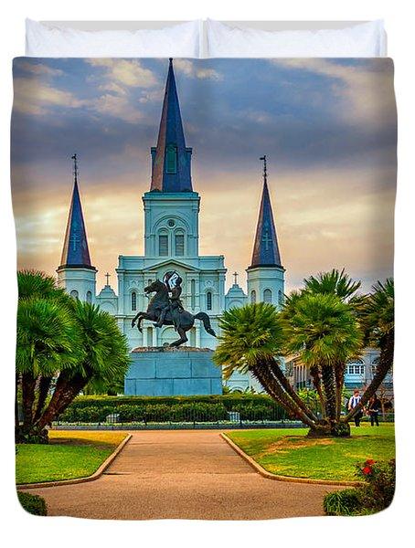 Jackson Square Cathedral Duvet Cover by Steve Harrington