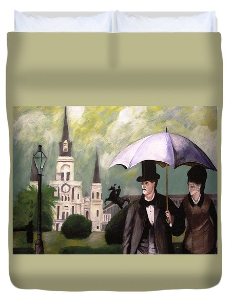 Jackson Square Duvet Cover by Rob Peters