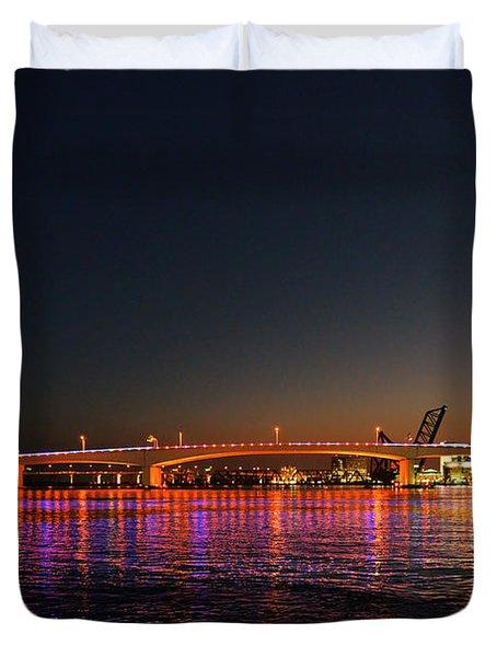 Jacksonville Acosta Bridge Duvet Cover by Christine Till