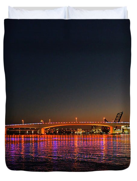 Jacksonville Acosta Bridge Duvet Cover by Christine Till