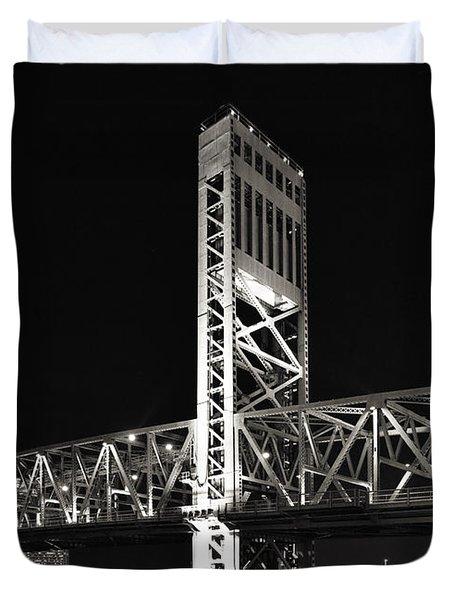 Jacksonville Florida Main Street Bridge Duvet Cover by Christine Till
