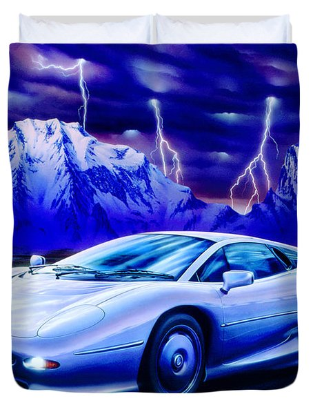 Jaguar 220 Duvet Cover by Garry Walton