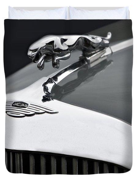 Jaguar Mk Ix Hood Duvet Cover by Susan Candelario