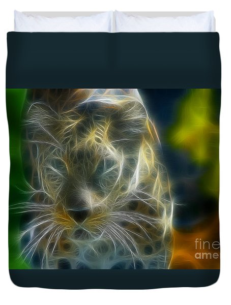 Jaguar208-fractal Duvet Cover by Gary Gingrich Galleries
