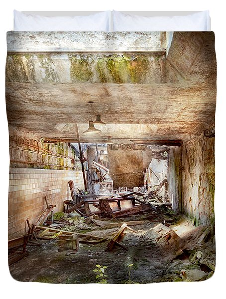 Jail - Eastern State Penitentiary - The mess hall  Duvet Cover by Mike Savad