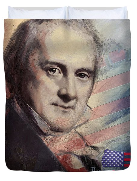James Buchanan Duvet Cover by Corporate Art Task Force