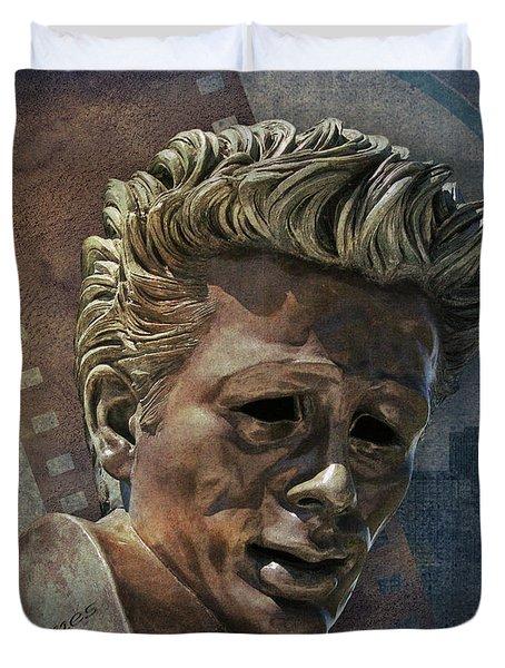 James Dean Duvet Cover by Bedros Awak