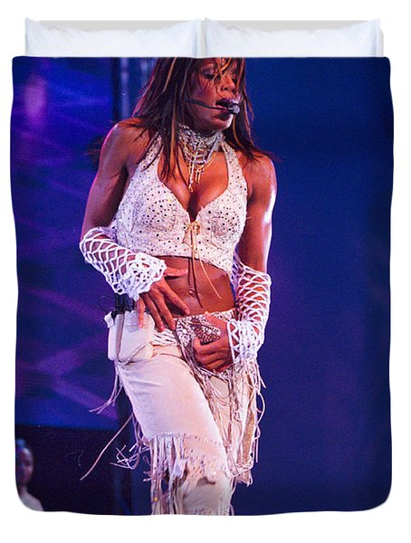 Janet Jackson-01 Duvet Cover by Timothy Bischoff