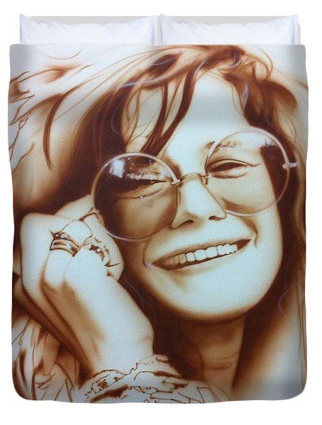 'janis' Duvet Cover by Christian Chapman Art
