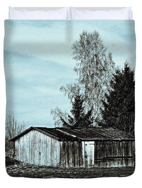 January Sadness Duvet Cover by Jutta Maria Pusl
