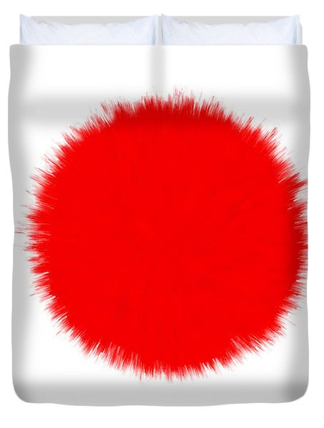 JAPAN FLAG Duvet Cover by Daniel Hagerman