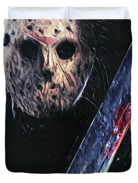 Jason Voorhees Duvet Cover by Taylan Apukovska