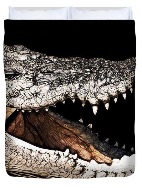Jaws Duvet Cover by Douglas Barnard
