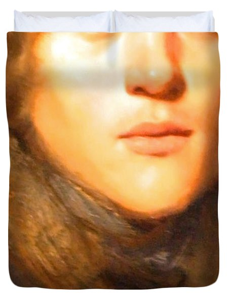 Jay Lievens Self Portrait Up Close Duvet Cover by Cora Wandel