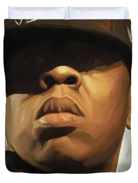 Jay-z Artwork Duvet Cover by Sheraz A