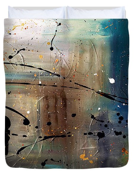 Jazz Night Duvet Cover by Carmen Guedez