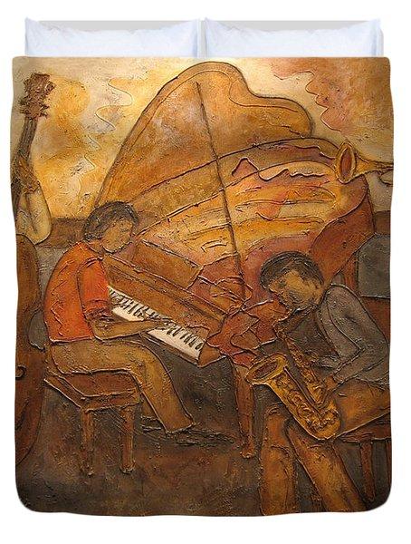 Jazz Quartet Duvet Cover by Anita Burgermeister