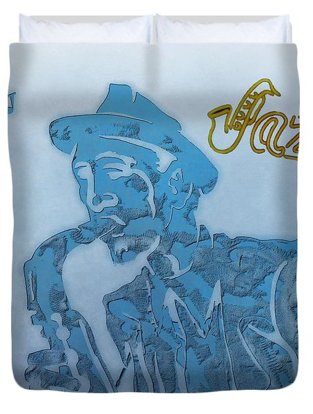 Jazz Saxophone Duvet Cover by Dan Sproul