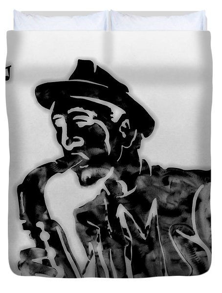 Jazz Saxophone Man Duvet Cover by Dan Sproul