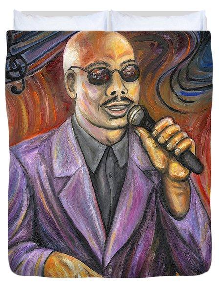 Jazz Singer Duvet Cover by Linda Mears