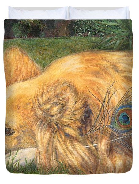 Jealous Jessie Duvet Cover by Emily Hunt and William Holman Hunt