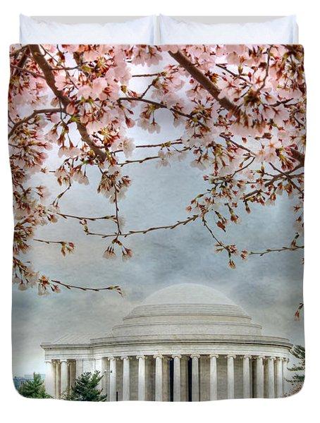 Jefferson Blossoms Duvet Cover by Lori Deiter