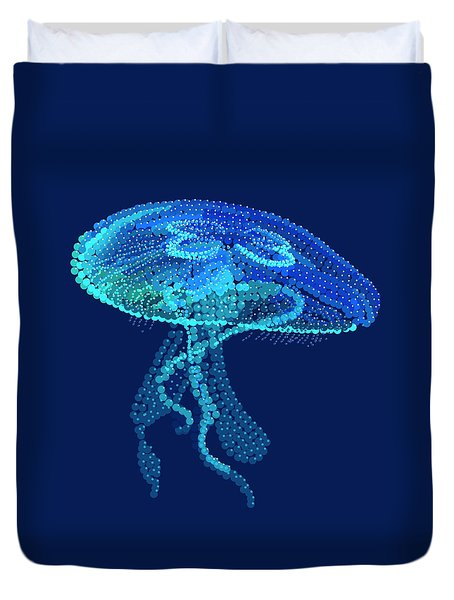 Jellyfish Bedazzled Duvet Cover by R  Allen Swezey