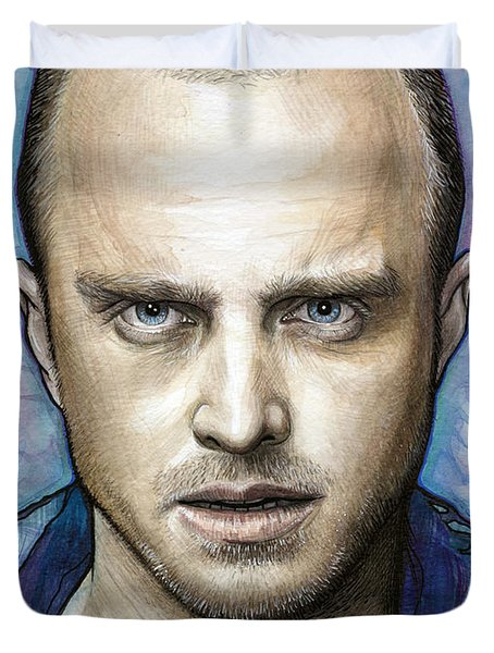 Jesse Pinkman - Breaking Bad Duvet Cover by Olga Shvartsur