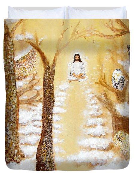 Jesus Art - The Christ Childs Asleep Duvet Cover by Ashleigh Dyan Bayer