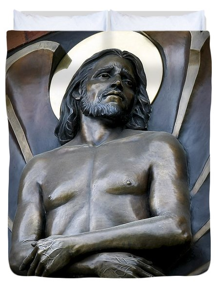 Jesus Cathedral Icon -  Spokane Washington Duvet Cover by Daniel Hagerman