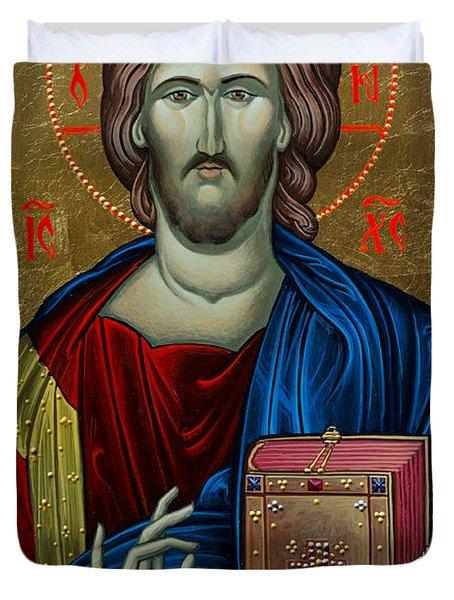 Jesus Christ Duvet Cover by Claud Religious Art