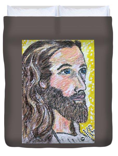 Jesus Christ Duvet Cover by Kathy Marrs Chandler