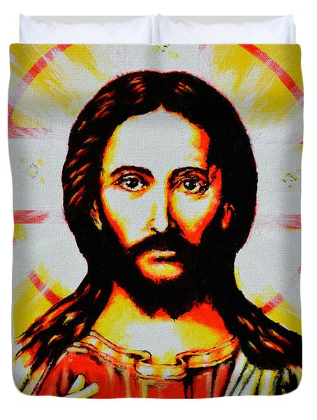 Jesus Christ Duvet Cover by Victor Minca