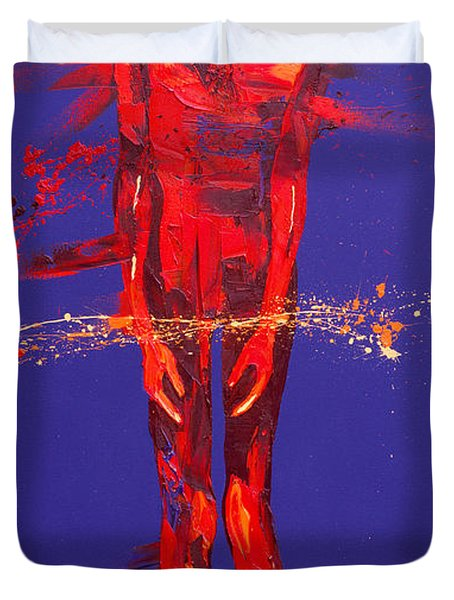 Jesus Is Condemned Station 1  Duvet Cover by Penny Warden