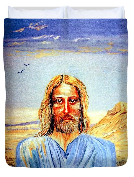 Jesus Duvet Cover by Jane Small