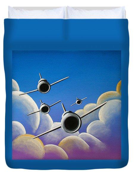 Jet Quartet Duvet Cover by Cindy Thornton
