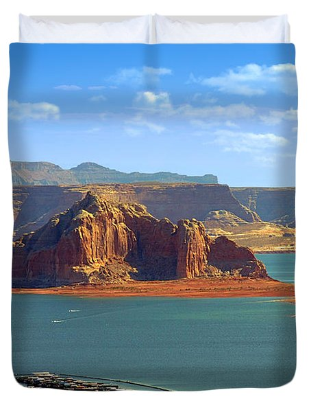 Jewel in the Desert - Lake Powell Duvet Cover by Christine Till