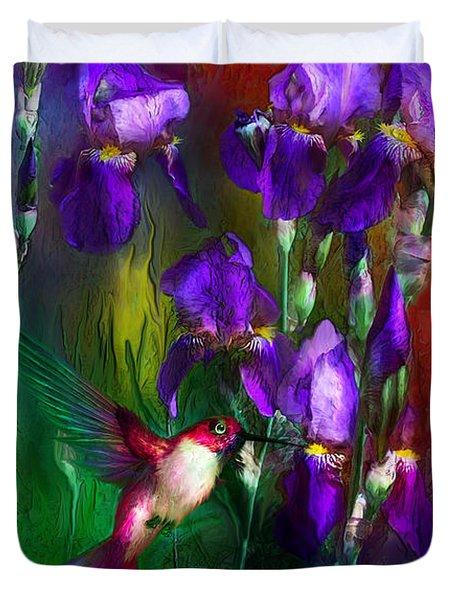 Jewels Of Summer Duvet Cover by Carol Cavalaris