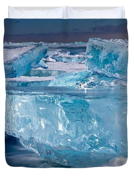 Jewels Of Superior Duvet Cover by Mary Amerman
